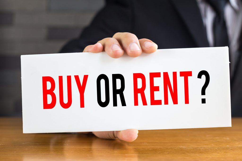 To buy or to rent?